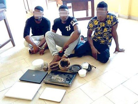 """Yahoo plus boys"" arrested in Ibadan with some juju, see photos– Nigerian Tribune ~ NOTJUSTPOST.COM"