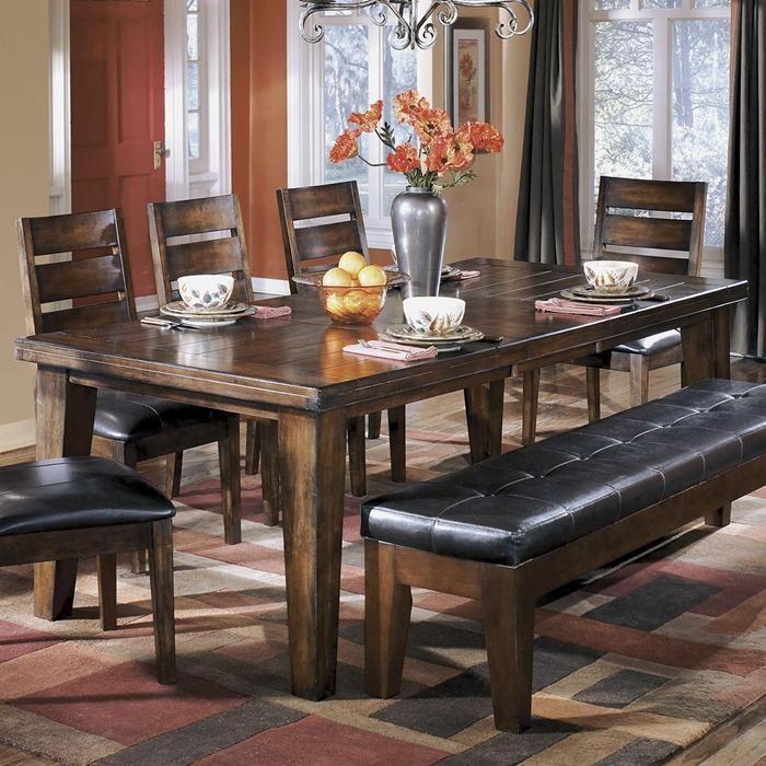 Larchmont Rectangular Extension Dining Table in Dark Brown | Nebraska Furniture…