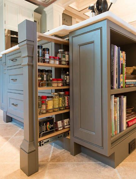 Kitchen cabinet pull out ideas pilaster spice pull out for Spice cabinet ideas
