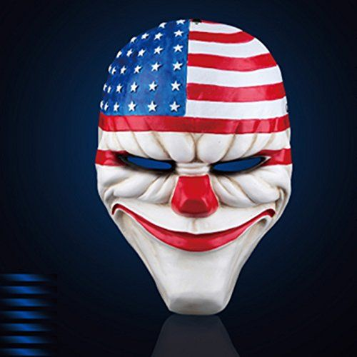2015  Payday 2 Dallas Mask replica Dallas HOXTON Wolf Chains Gmask The Heist Halloween mask >>> Read more home decor at the image link.
