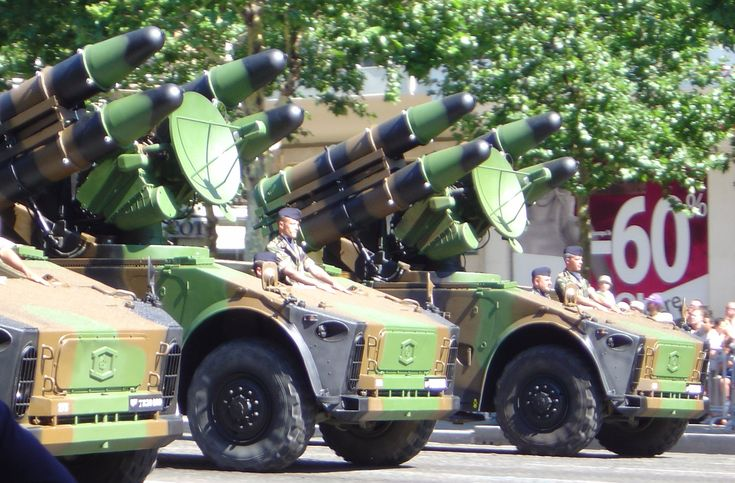 Crotale missile launchers. France.