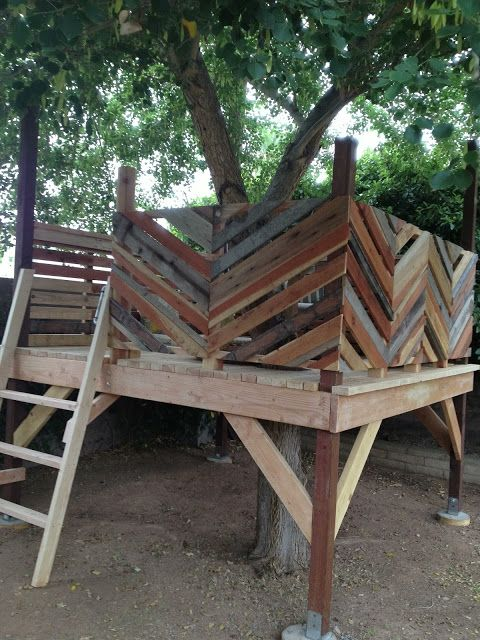 I like the chevron pattern, keeps it from being a typical back yard play structure and instead its a little funky and artsy.