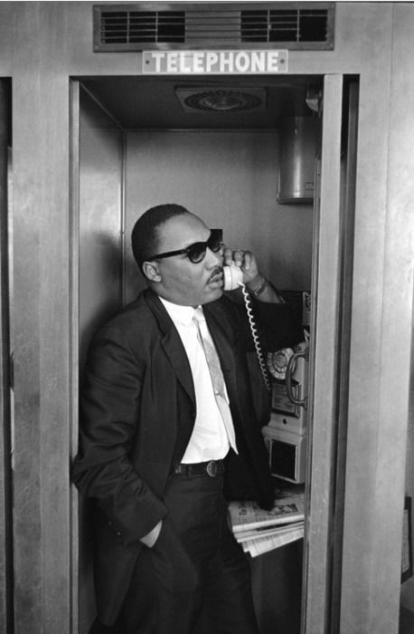 MLK making a call. Indeed, with today's tools and social media, what might have been his reach and his effect? The point is, however, he used everything he had in the interest of his peaceful cause. May it be true, also, of the leaders of today.