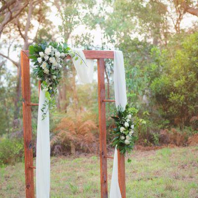 Classic Timber -Port Douglas Wedding Arch Hire