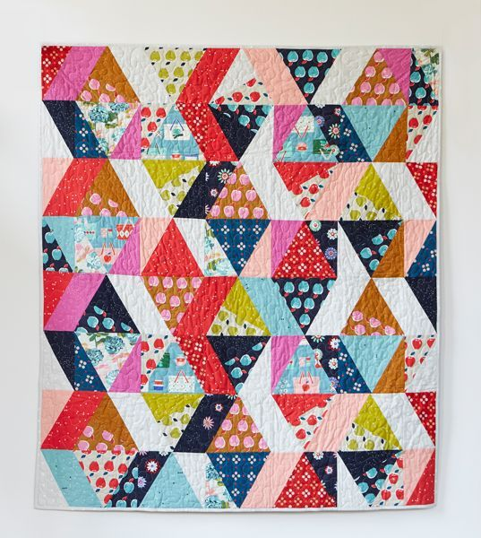 Picnic Quilt Pattern — Cotton + Steel Fabrics- I have/ LOVE these fabrics- great design idea for them