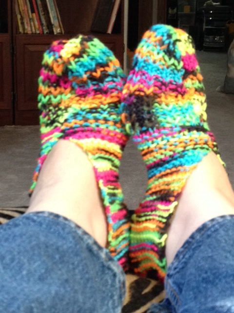 Bright slippers
