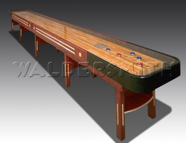 The American-made Grand Champion, manufactured in Texas by Champion Shuffleboards, is the pride of the company. Crafted from solid Canadian Maple, the Grand Champion's famous Polymer finish bestows the playfield with an unrivalled level of quality – the very same insisted upon by the professionals. Take a look here> http://www.gamesroomcompany.com/Product_Catalogue/Shuffleboard/Shuffleboard_Tables/Grand_Champion_Shuffleboard_11998