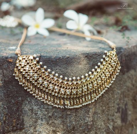 Jewellery - The Wedding Jewels! Photos, Hindu Culture, Beige Color, Antique Jewellery, Polki Kundan Jewellery, Pearl Jewellery pictures, images, vendor credits - Tuhina Chopra Photoworks, The Powder Room, WeddingPlz