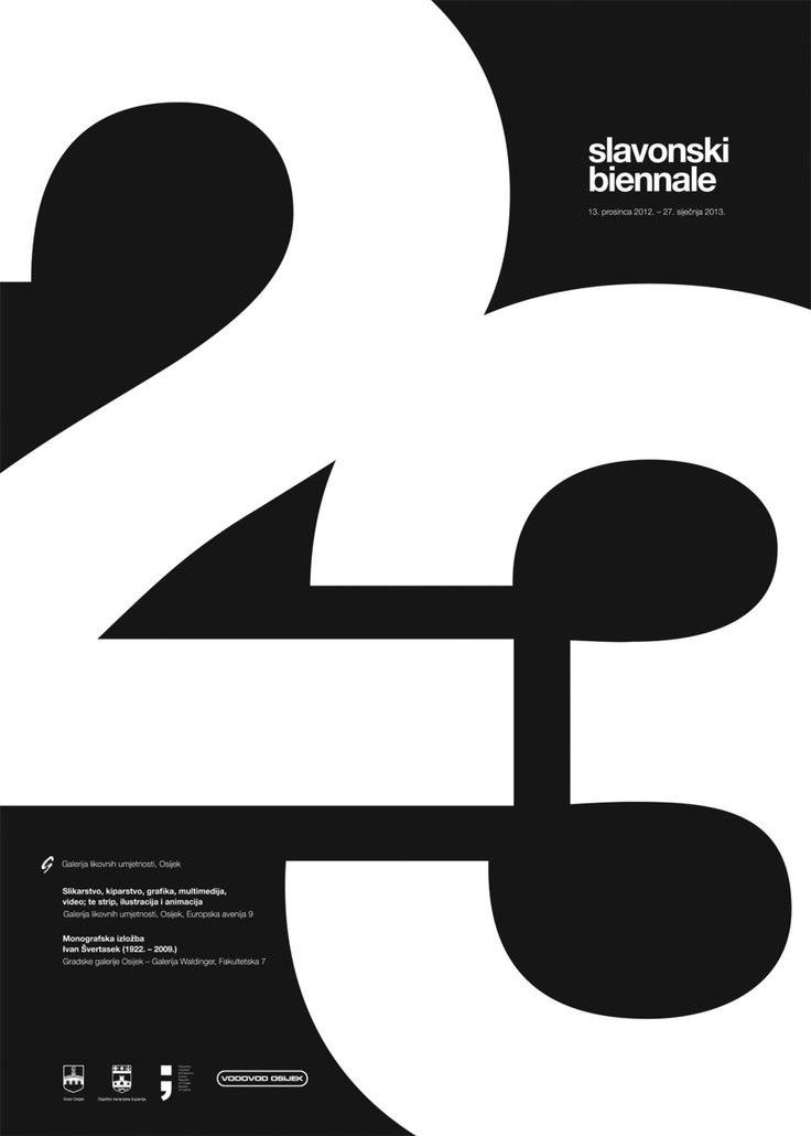 The magic of numbers in graphic design posters