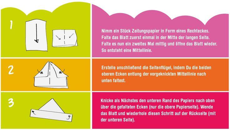Anleitung für das Basteln eines Papierhutes