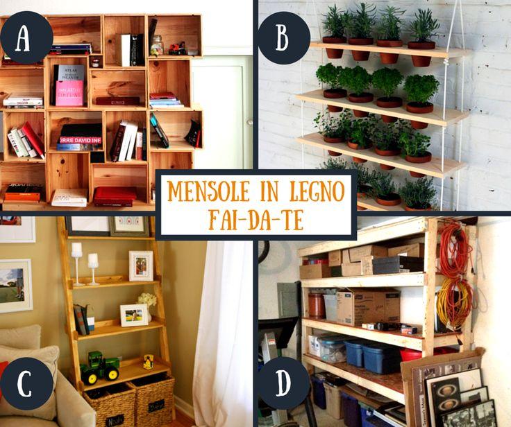 Mensole in #legno #faidate: A, B, C o D? #riciclocreativo #fazland #idee #casa