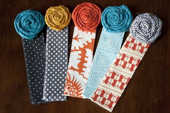 Fabric Bookmark with Rosette by handmadebykep on Etsy, $4.00Shower Ideas, Fun Bookmarks, Fabrics Bookmarks, Bridal Shower, Rosette Bookmarks, Baby Shower