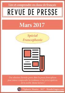 Revue de presse - Mars 2017 | Mondolinguo - Français