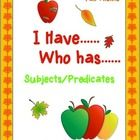 Subjects and predicates are tons of fun with this fall themed I Have Who Has game! It's great for review, test prep, listening skills, and just a ...
