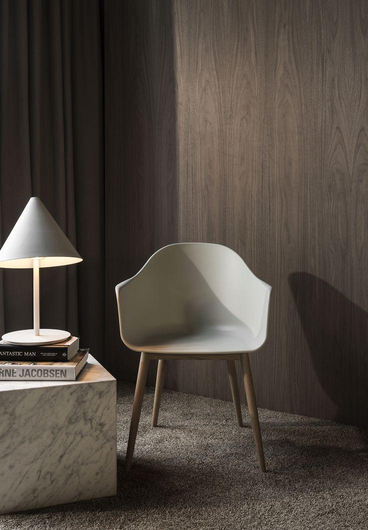 MENU SS18   Plinth, Harbour Chair, Conic Lamp