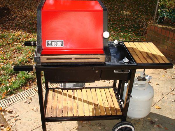 Vintage Weber gas grill