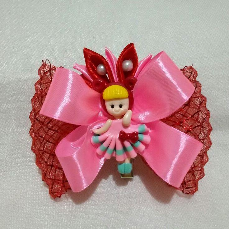 10 $   Red princess hairclips