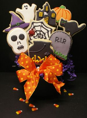 Halloween Cookie Bouquet!