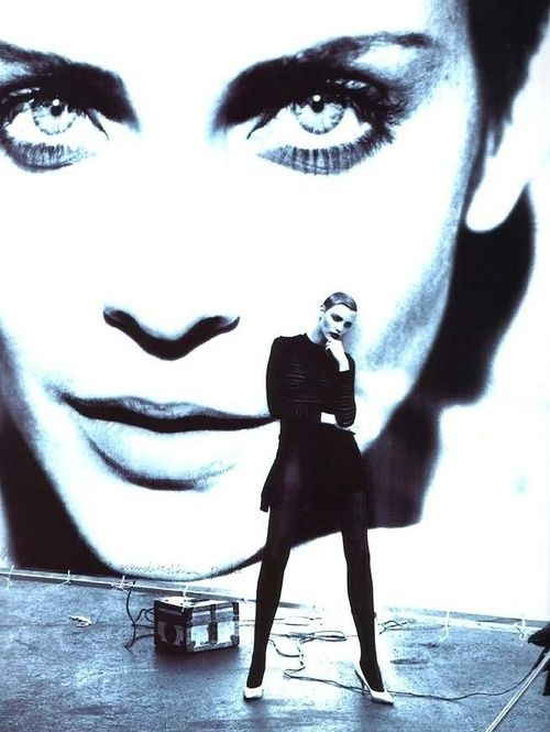 Nadja Auermann for Kathleen Madden 1996 by Peter Lindbergh