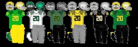 Another look at Oregon Ducks Uniform choices.