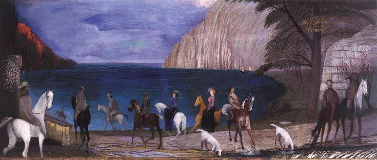 Csontváry Kosztka Tivadar - Lovasok a tengerparton / Riders on the Seashore, 1909