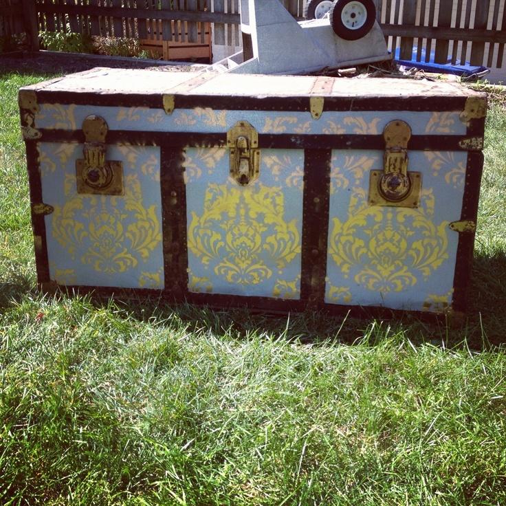 rejuvenated furniture. rejuvenated furniture like the wallpaper idea