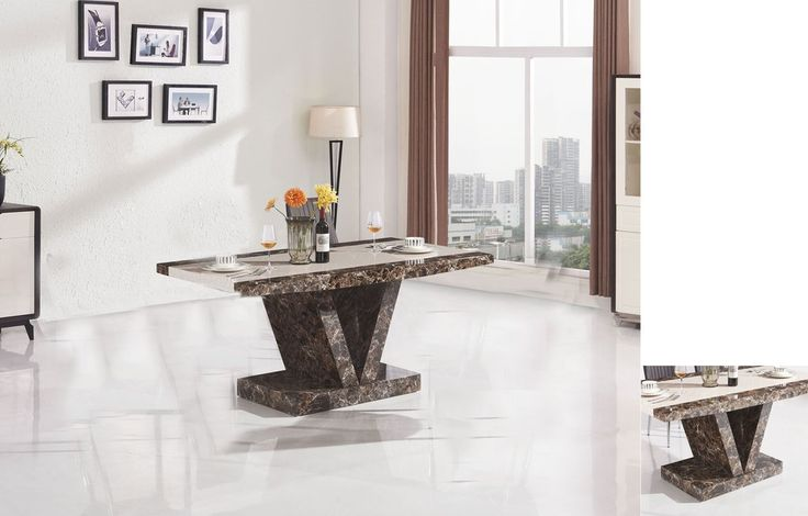 Thinking about buying Marble Effect Hig.... It's on #sale here http://discountsland.co.uk/products/marble-effect-high-gloss-dining-table-brown?utm_campaign=social_autopilot&utm_source=pin&utm_medium=pin #furniturediscount #furniture