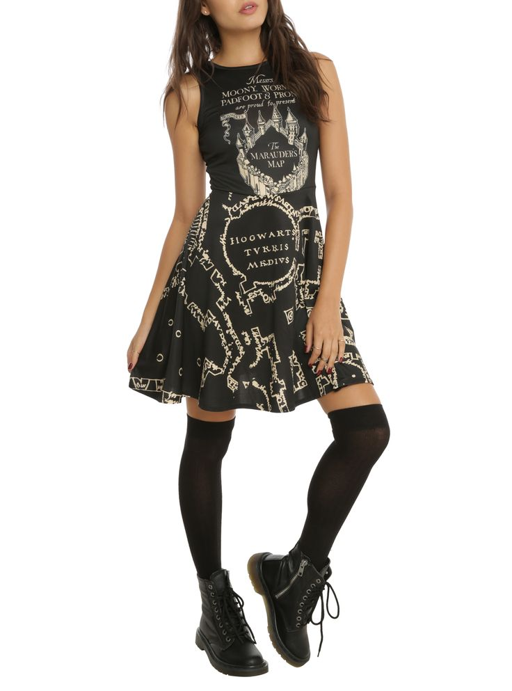 Check this out: A Marauder's Map Dress!
