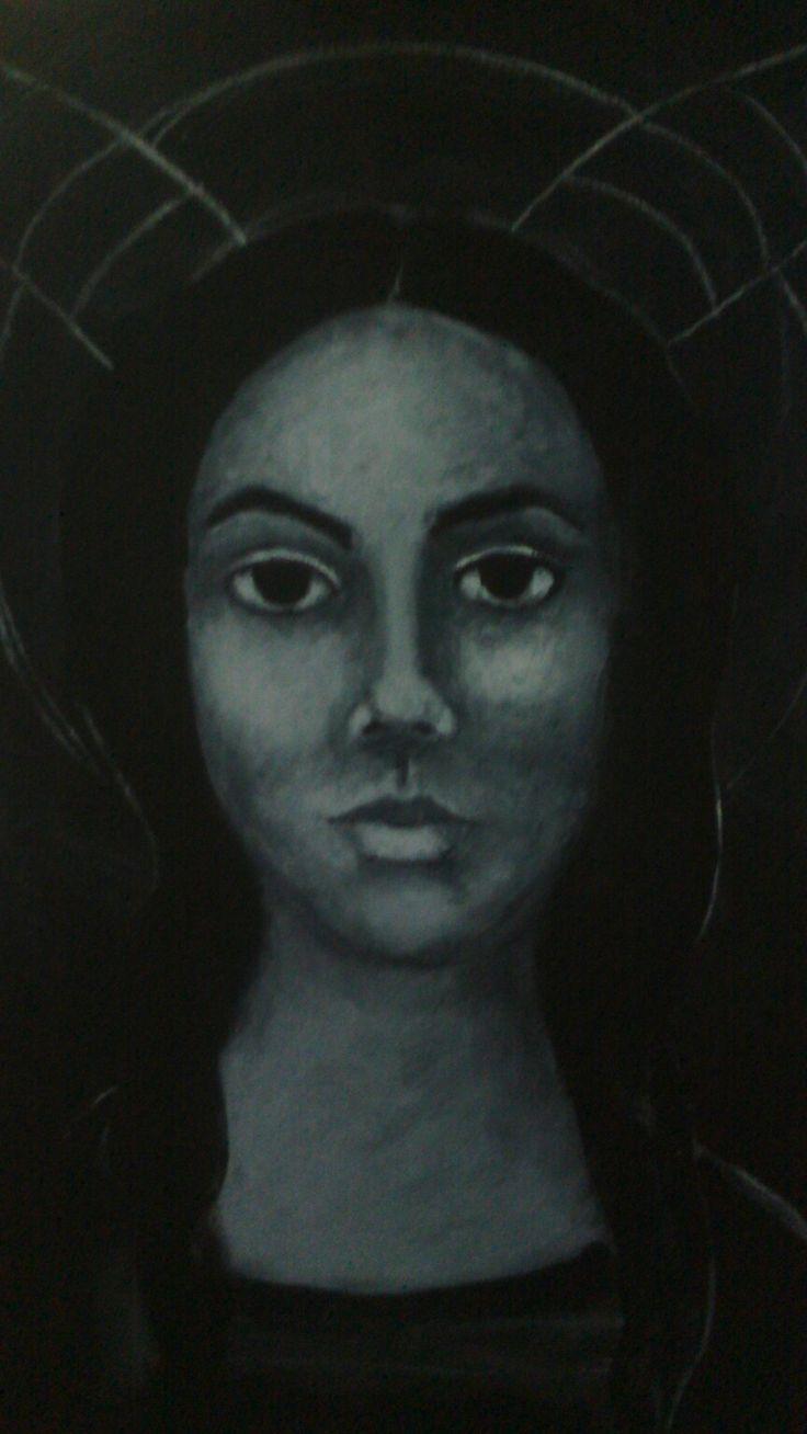 Works in progress angel mixed media art