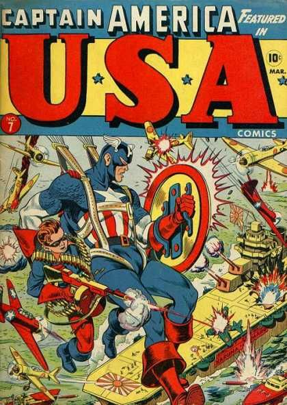 USA Comics 7 Captain America golden age Atlas Marvel comics ❤❦♪♫Thanks…
