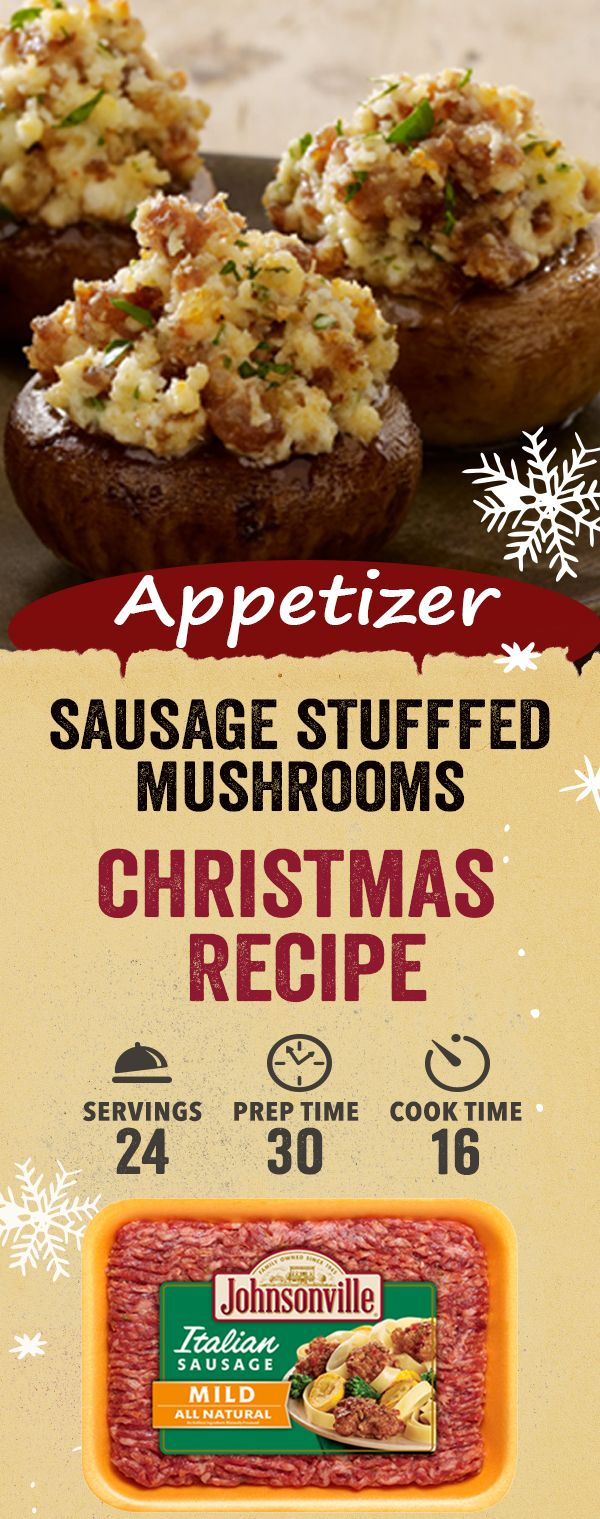 Sausage Stuffed Mushrooms Johnsonville