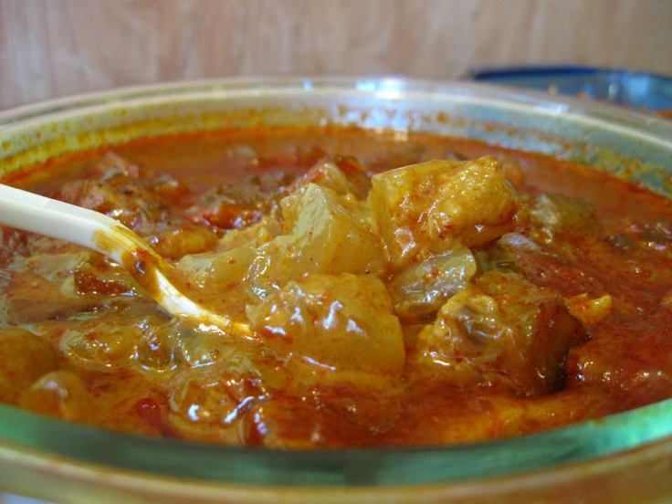 Indonesian Food - Gulai Kikil with Coconut Sauce