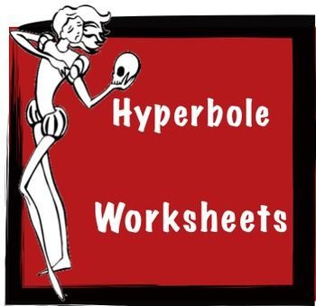 I've Never Had So Much Hyperbole Work in My Entire Life!--Worksheets This hyperbole worksheet has a definition, poetry example, practice writing questions and a challenge poetry question.  It's the all time greatest hyperbole worksheet you'll see in a million years!