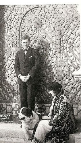 Crown Prince Carol of Romania with his fiancee Princess Elena of Greece
