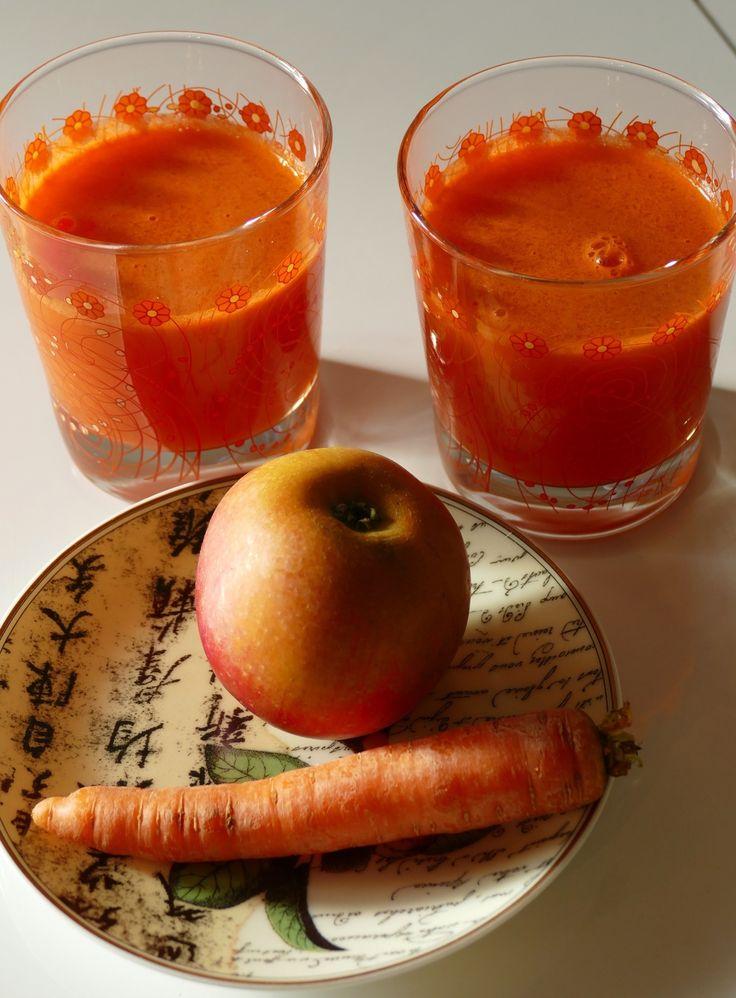 jus orange by Chry ... carottes, pommes, citron bergamote, gingembre Celui là est un grand classique, un cocktail de vitamines délicieux... Moi qui n'aime pas le jus de carottes pur du commerce, j'ai été agréablement surprise et enthousiaste du goût de...