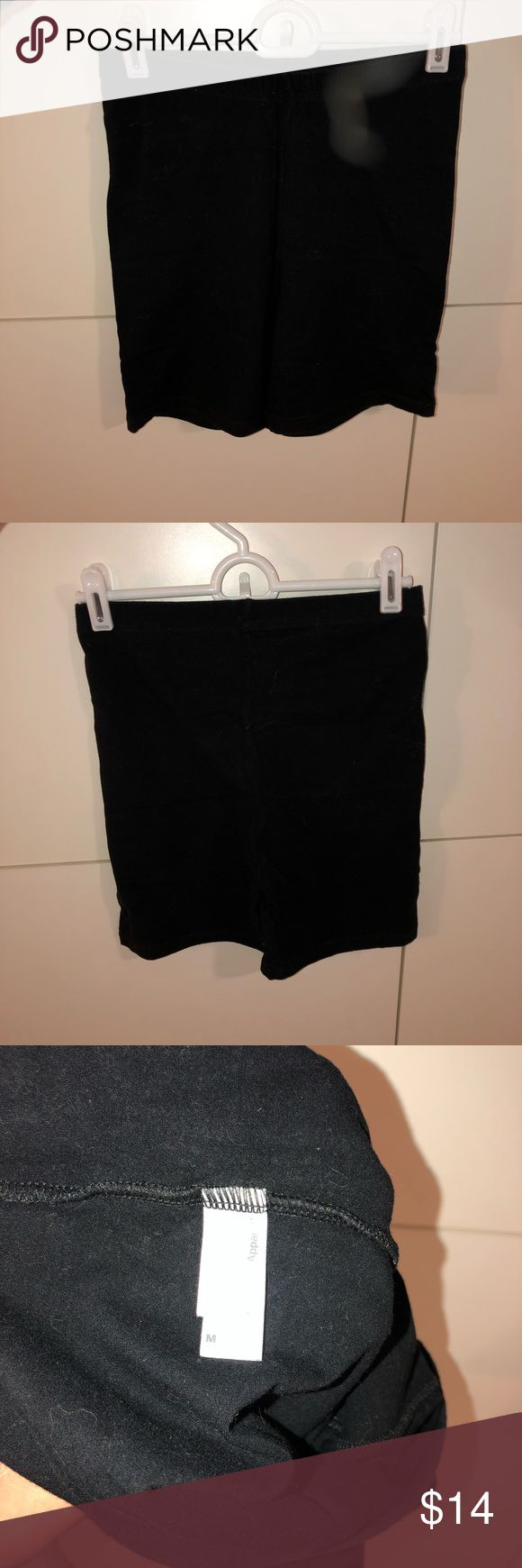 Black American Apparel High Waist Biker Shorts • high waisted biker shorts fro…   – poshmark closet