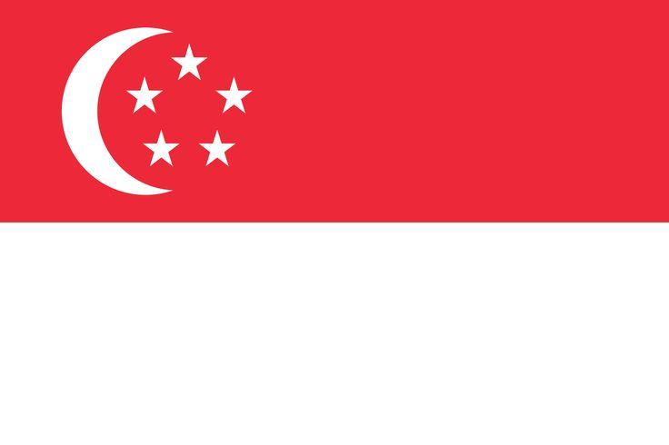 Flag of Singapore - Bandeiras da Ásia – Wikipédia, a enciclopédia livre