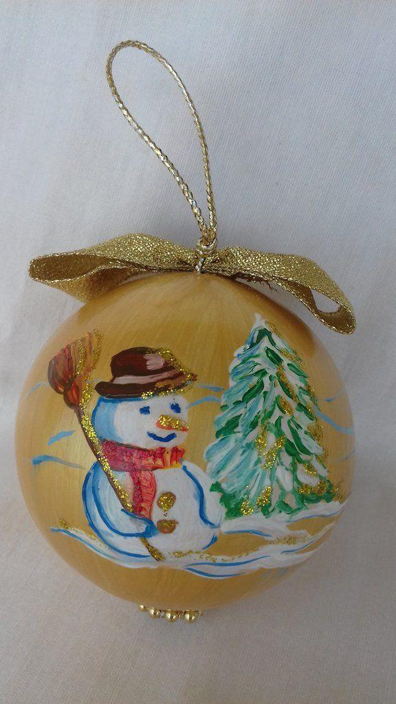 Pallina natalizia per addobbo albero di Natale, by Il Meraviglioso Mondo di Artemisia, 25,00 € su misshobby.com