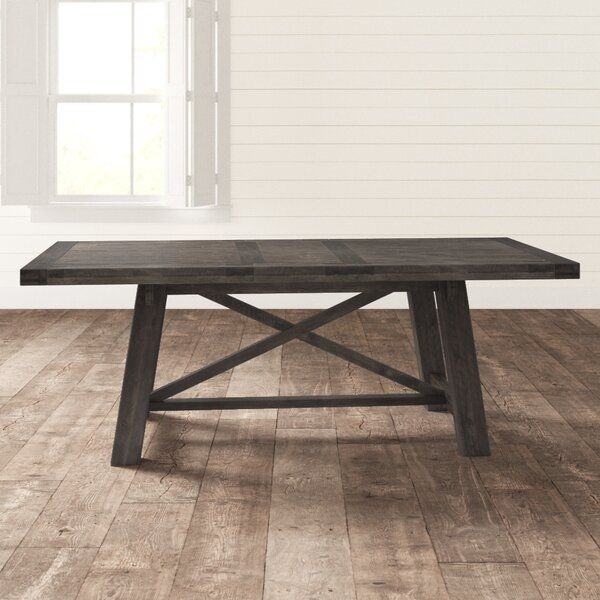 Colborne Extendable Acacia Solid Wood Dining Table In 2020