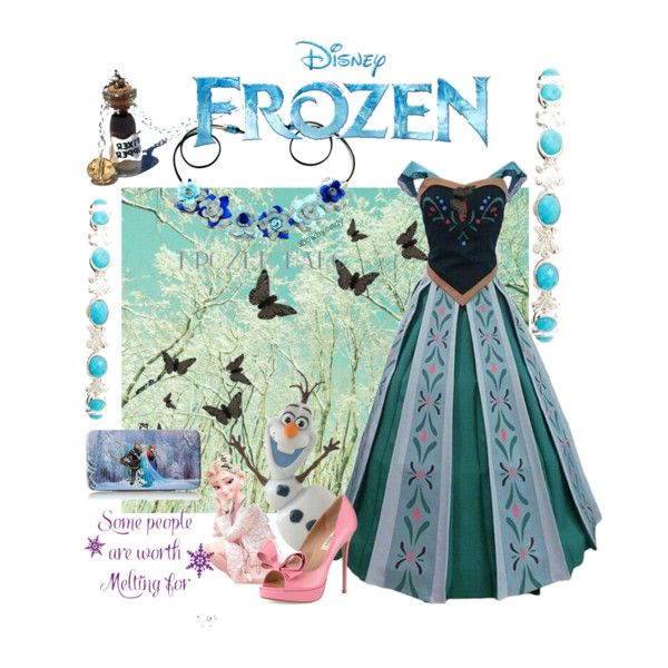 frozen by diaparsons on Polyvore featuring Valentino, Disney, Slane, Gowns, contestentry and frozen