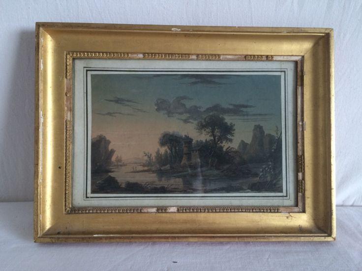 Jean-Baptiste POURCELLY (1791-1802) – Aquarelle Gouache/Papier – Paysage