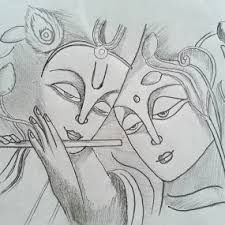 Image result for pencil drawing pictures of krishna