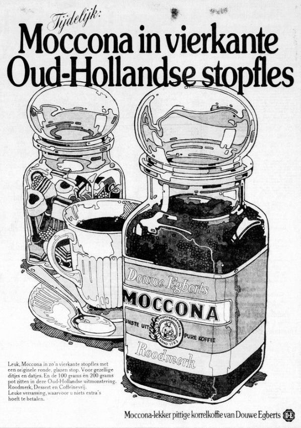 Douwe Egberts Moccona 1973 #vintage #advertisement