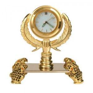 [MINI CLOCK]수공예제품푸마조각미니시계