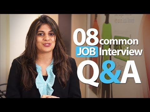 08 common Interview question and answers - Job Interview Skills - YouTube