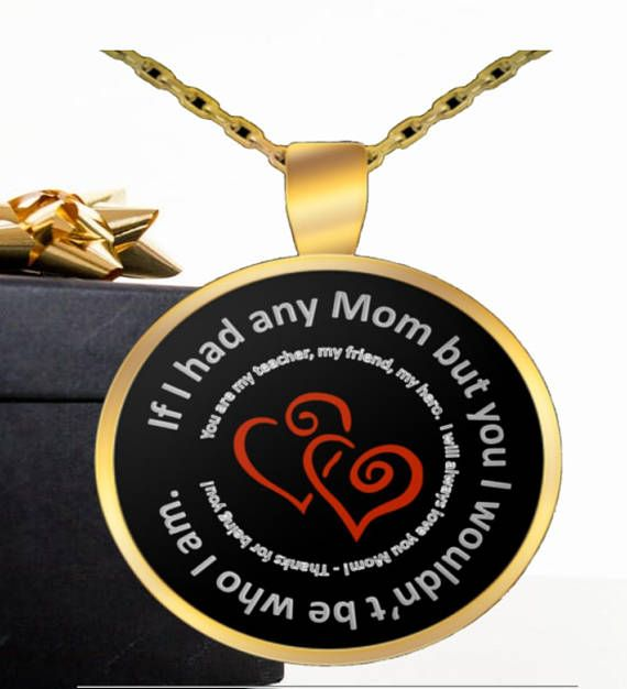 I Love You Mom Pendant Necklace Sentimental Necklace Gifts