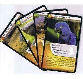 DESAFIOS DE LA NATURALEZA Aprender caracteristicas de los animales, es asi de fácil primates, aves, marinos, carnivoros, asia, africa, america... www.hullitoys.com/juegos-de-cartas-memoria-y-familias/2258-juego-de-cartas-aves-desafios-de-la-naturaleza-569160281059.html