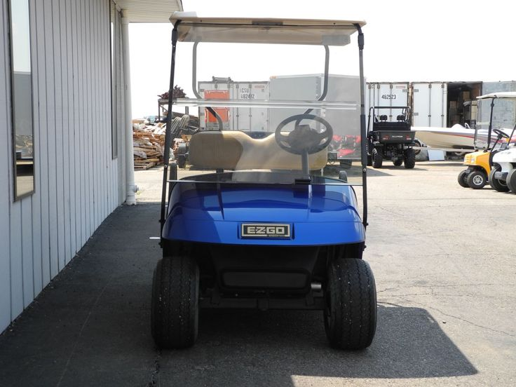 This 2001 E-Z-GO PDS electric golf car features the beautiful Electric Blue body, tinted folding windshield, and chrome hubcaps for just $1999. See more at: http://www.powerequipmentsolutions.com/products-a-services/online-store/used-golf-carts/e-z-go-golf-carts/e-z-go-electric-golf-carts/2001-e-z-go-pds-electric-golf-cart-electric-blue.html    #pes #ezgo #blue #golfcar #vandalia #gooddeal