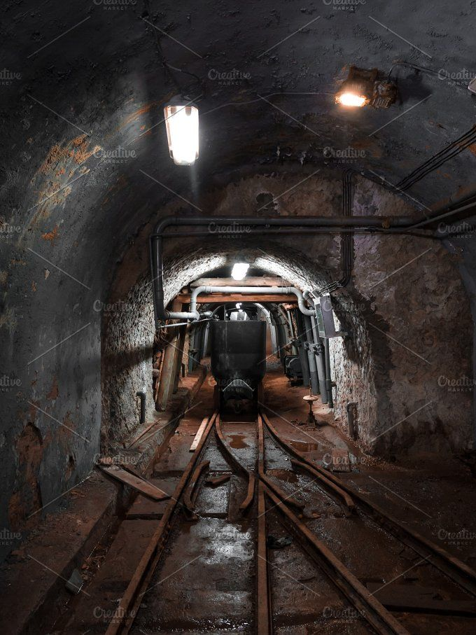 Mine wagon, inside the mine by cineuno on @creativemarket