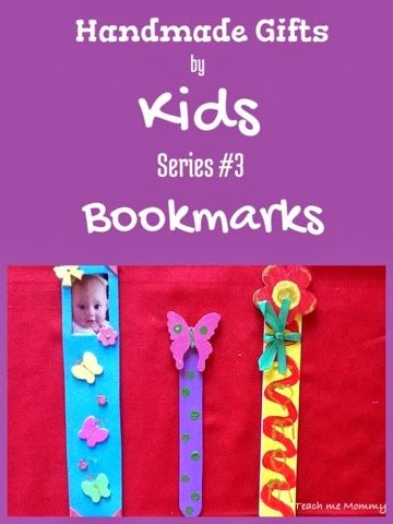 Handmade Gifts by Kids #3 - Bookmarks, special gift for mom/dad or gran etc.